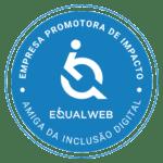 Selo azul Embaixador EqualWeb
