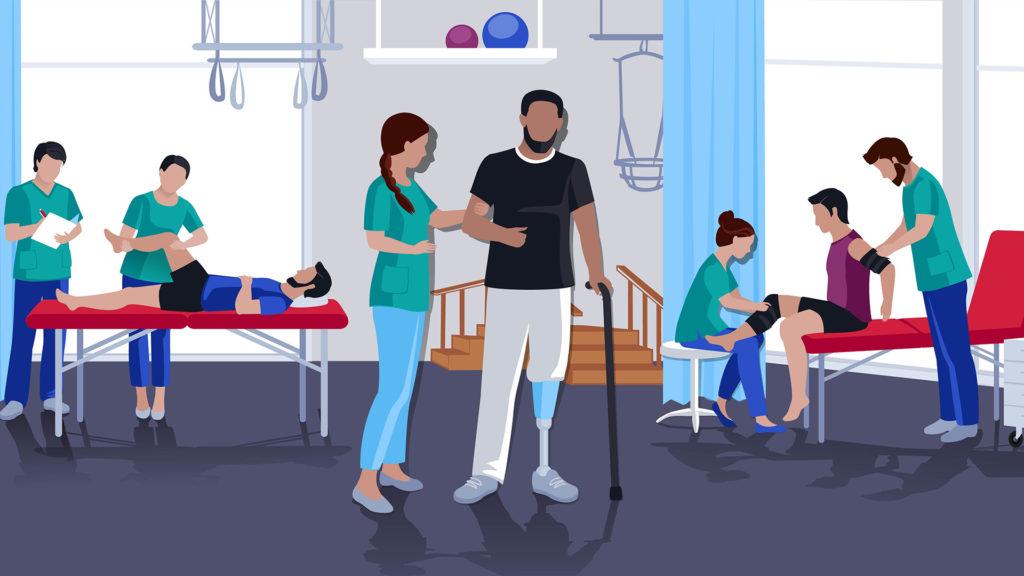 Imagem sobre fisioterapia e pessoas com deficiência