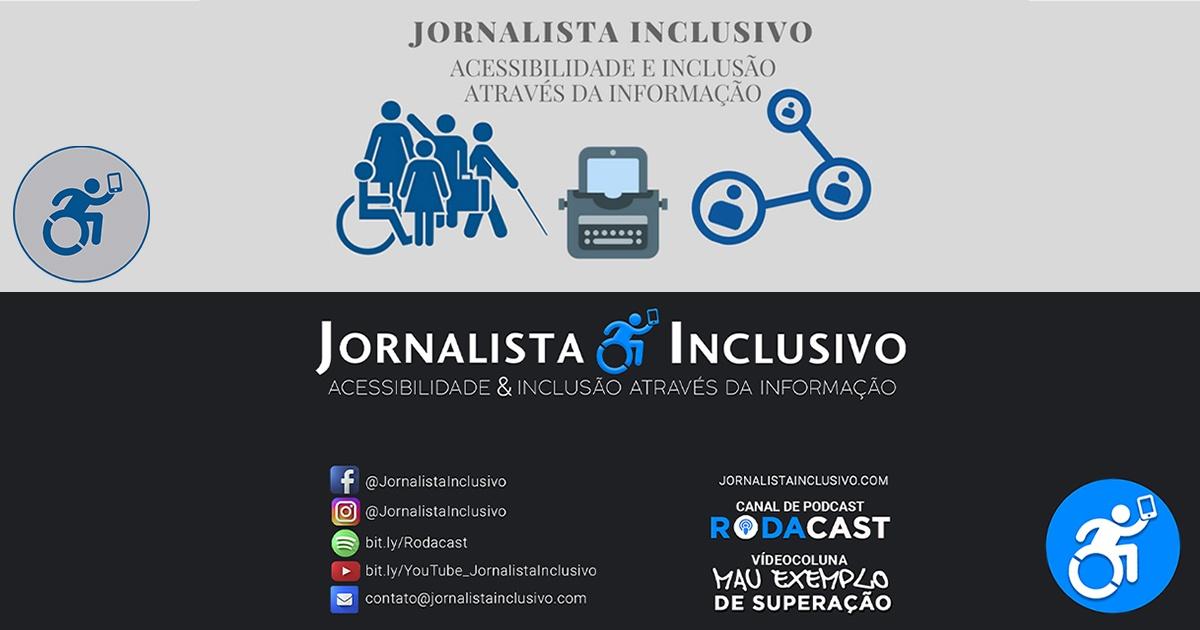 Duas versões da identidade visual do Site Jornalista Inclusivo