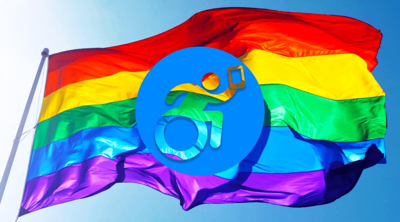 Bandeira do Dia do Orgulho LGBTQIA 2020 e logo Jornalista Inclusivo