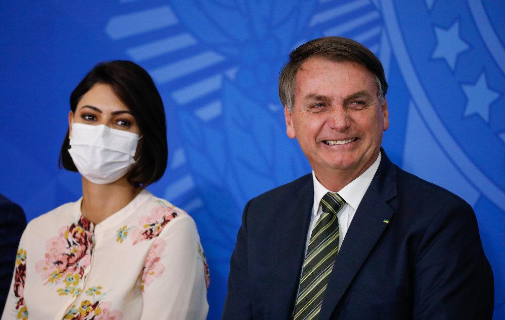 Presidente Jair Bolsonaro e primeira dama Michelle
