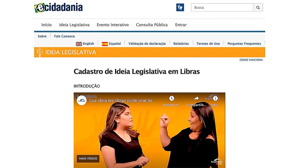 Print-screen e-cidadania