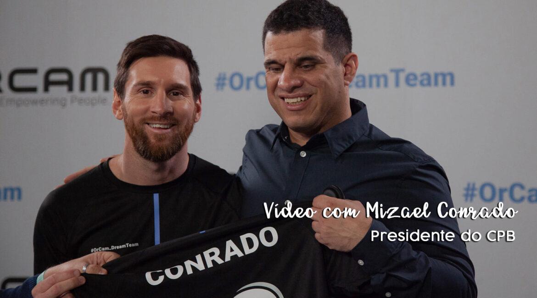 Messi é embaixador de gadget para cegos