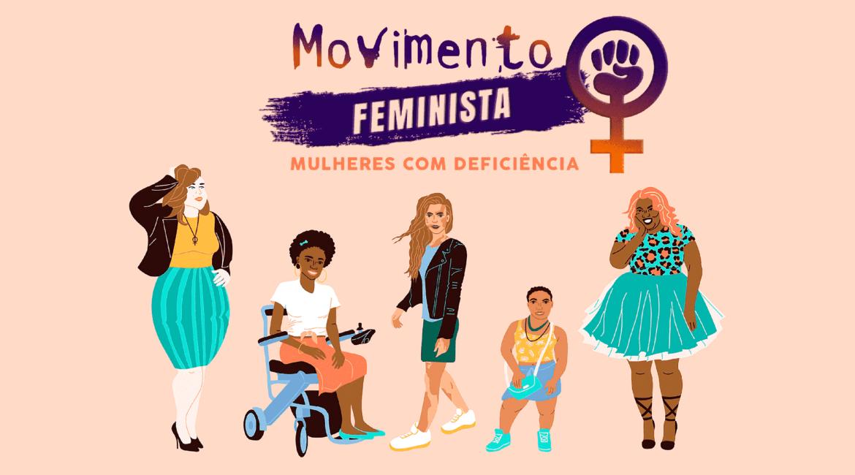 Ilustração sobre o Feminismo e as Mulheres com Deficiência