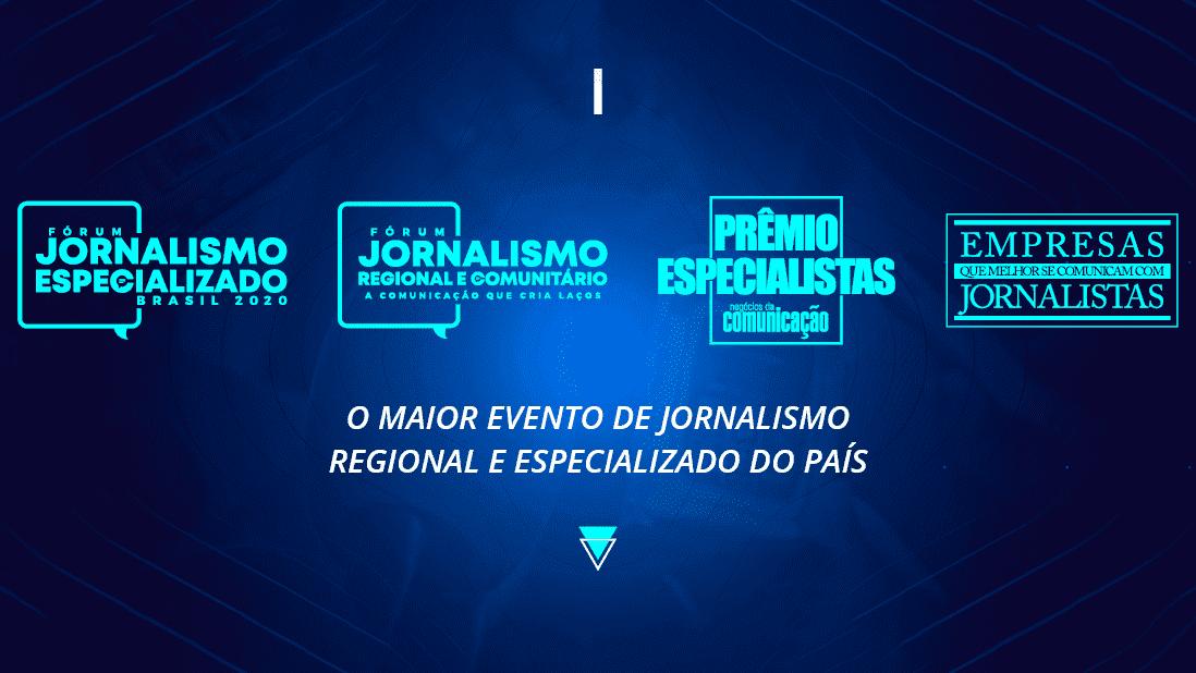 Arte digital divulgação Evento de jornalismo regional e especializado 2020