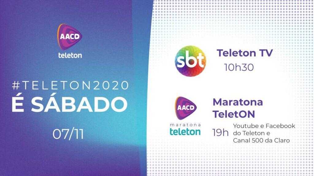 Banner de divulgação para artigo AACD Teleton 2020 será online em um único dia