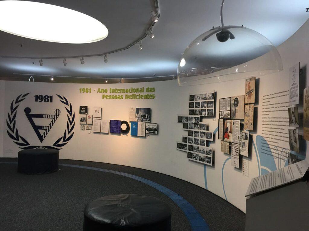 Visão interna do Memorial para o texto Museu da Inclusão recebe verba para preservar acervo