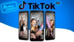 """Três celulares com imagem da live de Paola Antonini para o texto """"TikTok lança a campanha #EuNãoDesisto"""""""