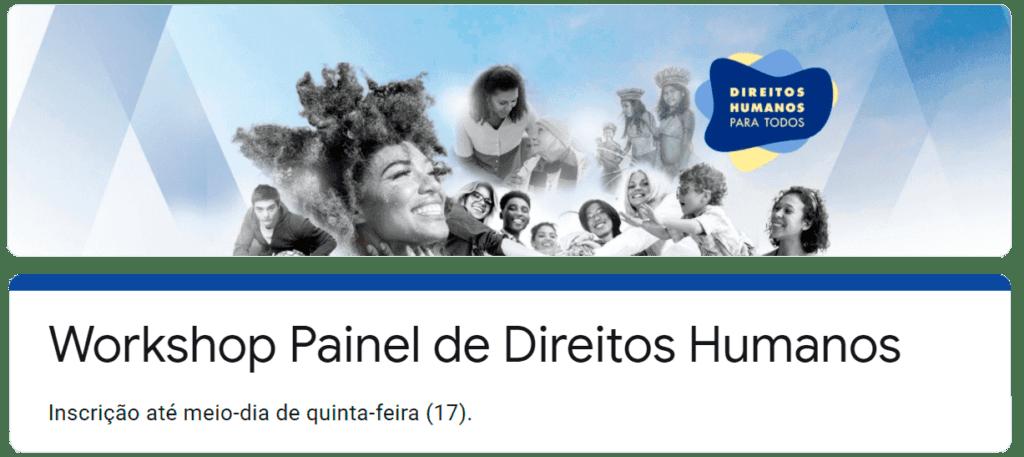 workshop sobre Painel de Dados Direitos Humanos