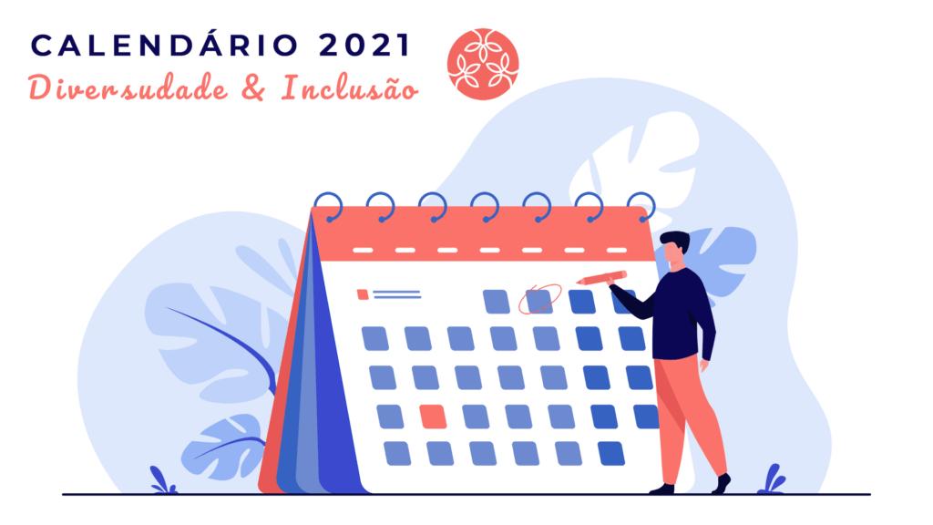 Ilustração para Calendário 2021 da Diversidade e Inclusão