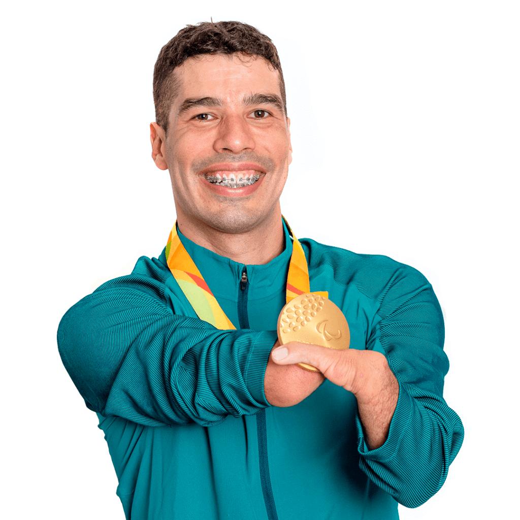Foto do atleta medalha de ouro, Além das águas com Daniel Dias, por Murilo Pereira