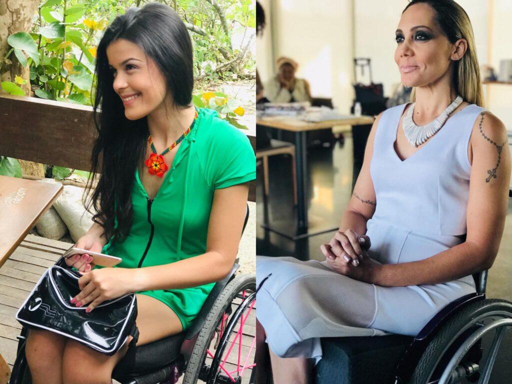 Modelos cadeirantes vestem Equal Moda Inclusiva