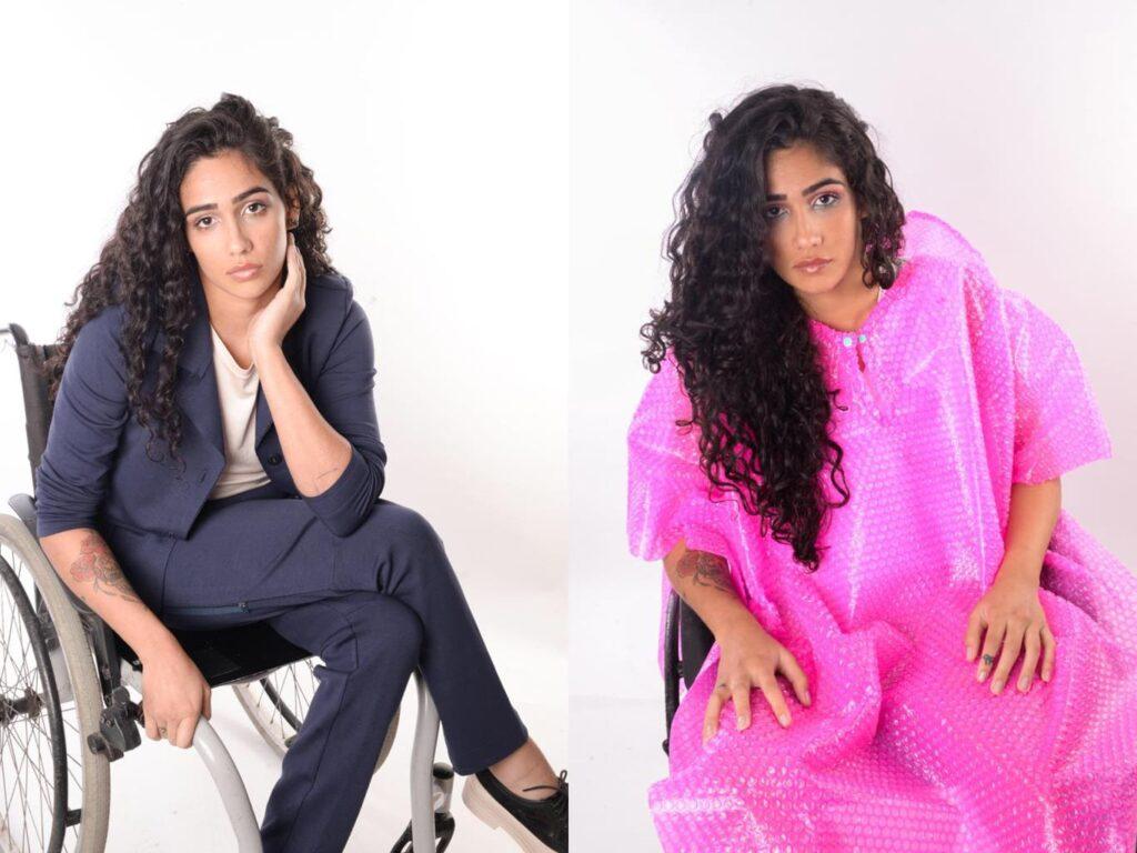 Modelo com roupas da Equal Moda Inclusiva