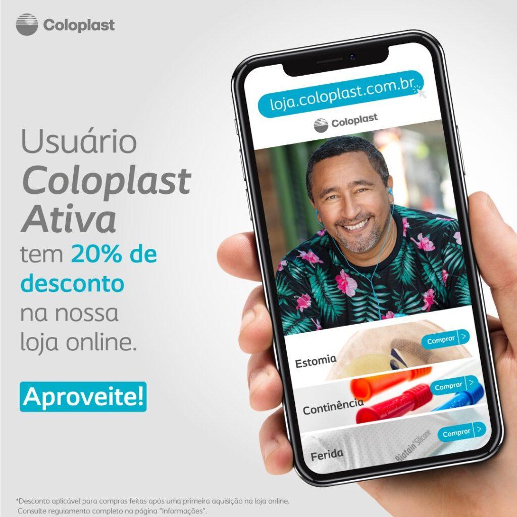 Banner da loja online Coloplast