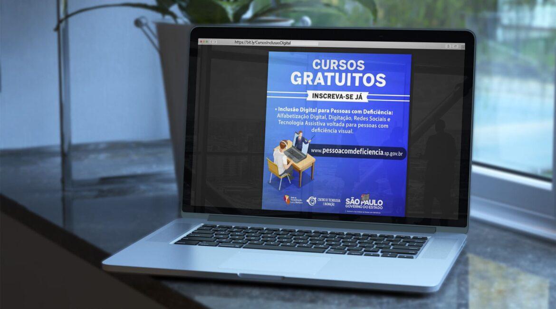 Cursos gratuitos de Inclusão Digital em SP para PcDs