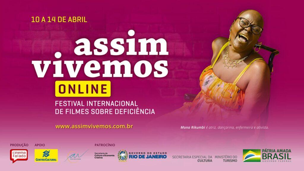 Banner de divulgação Festival Assim Vivemos 2021 descrito na legenda.