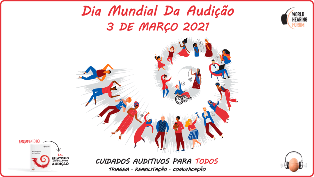 Banner oficial da OMS para o Dia Mundial da Audição 2021