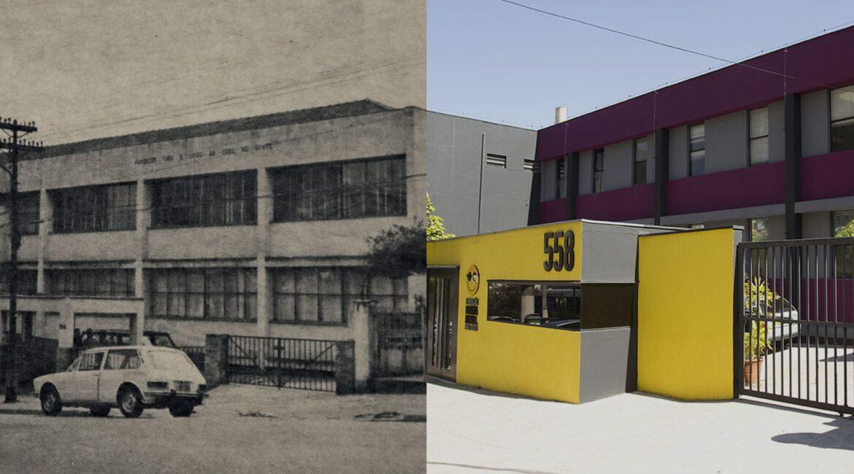 """Montagem com fotos do prédio da organização ilustra o texto """"Fundação Dorina completa 75 anos"""""""