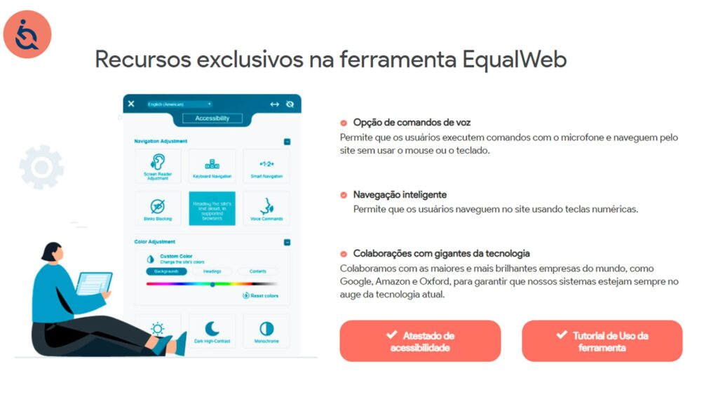 JI e o novo embaixador da EqualWeb interface