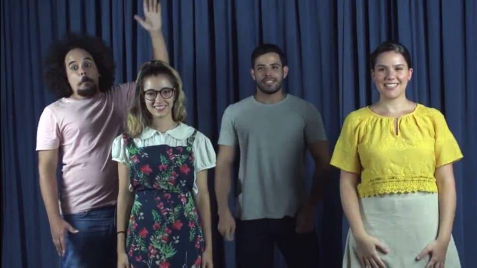 Fotografia com quatro pessoas da equipe descritas na legenda.