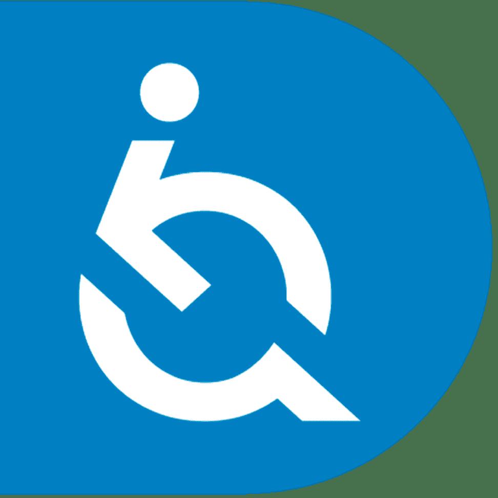 Botão redondo azul que aciona as ferramentas de acessibilidade da EqualWeb