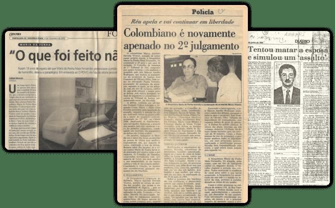 Jornais Maria da Penha