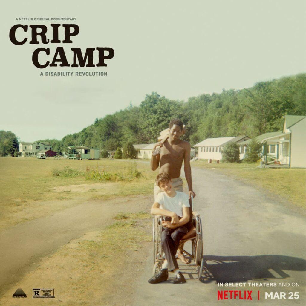 Banner oficial do documentário Crip Cramp, descrito na legenda, que também endossa a representatividade pcd no Oscar 2021.