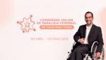 Banner de divulgação do 1º Congresso Online de Paralisia Cerebral – De Todos para Todos, com descrição na legenda.