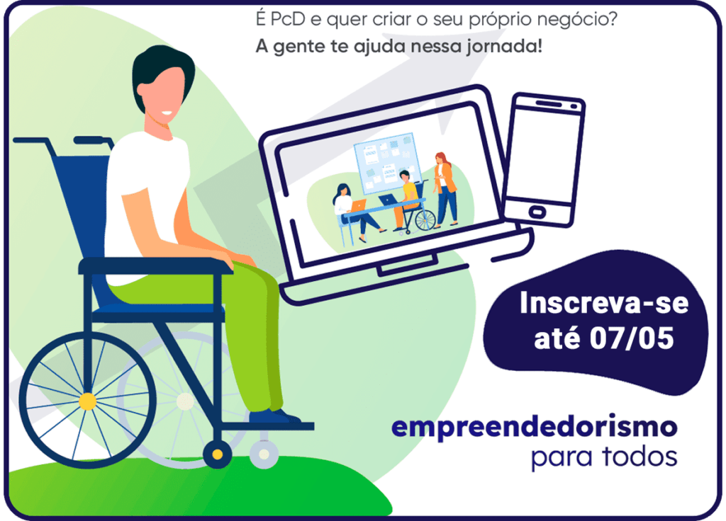 Banner oficial do projeto Empreendedorismo para Todos 2021, descrito na legenda.