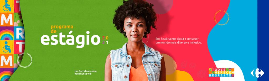 Banner oficial sobre Carrefour busca 30 novos talentos em SP, descrito na legenda.