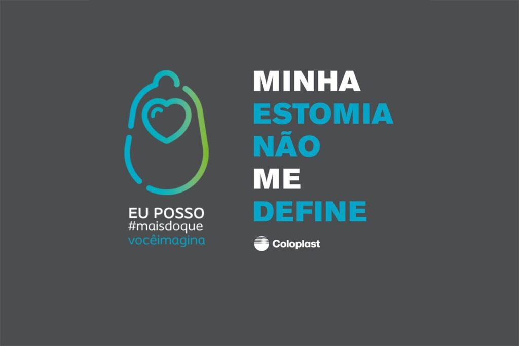 Banner oficial da campanha Minha estomia não me define, descrito na legenda.