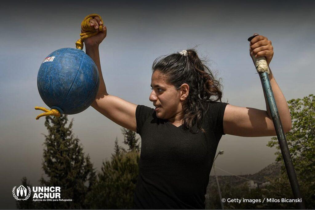Alia Issa, paratleta da Equipe Paralímpica de Refugiados
