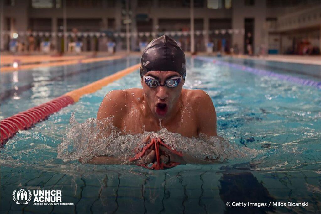 Ibrahim Al Hussein, nadador da nadador da Equipe Paralímpica de Refugiados