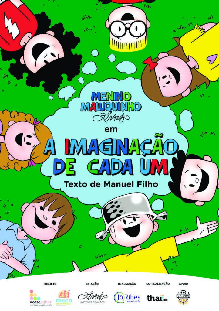 Capa oficial da segunda cartilha da ONG Nosso Olhar, em parceria com Ziraldo. Descrição na legenda.