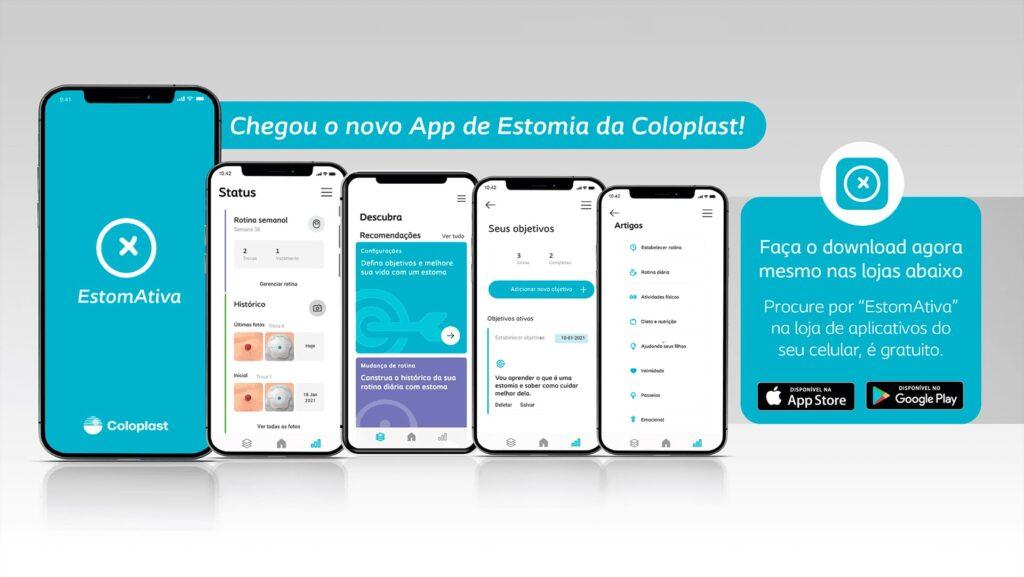 Imagem do App EstomAtiva, da Coloplast.