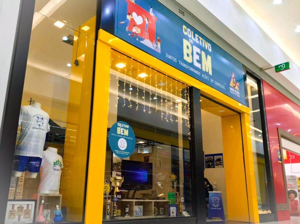 Fachada da loja Coletivo do Bem, Maua Plaza Shopping.