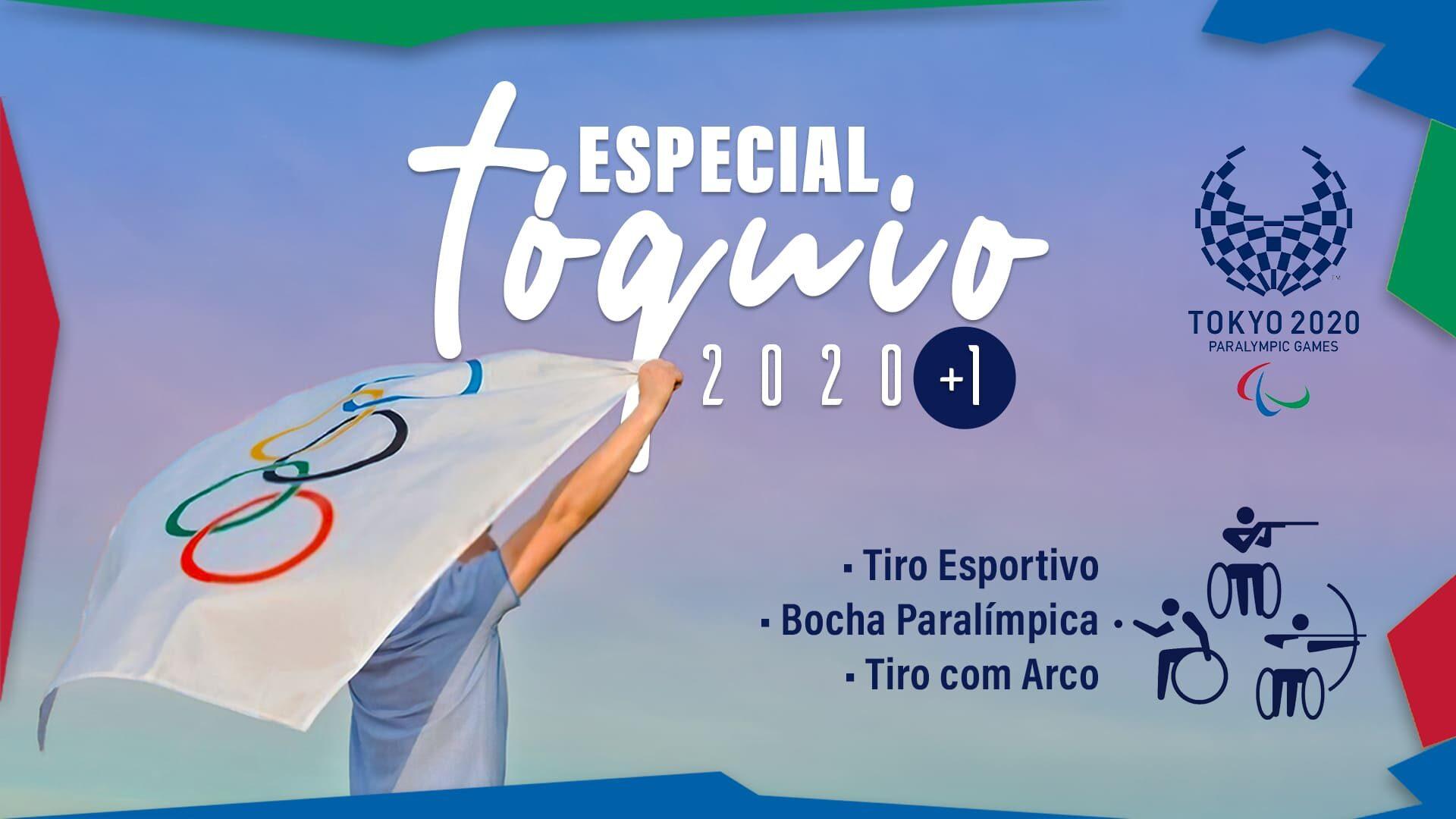 """Imagem de capa do artigo """"Alvos Paralímpicos"""", quarta edição da série """"Especial Tóquio 2020"""" (tema sobreposto à imagem, na cor branca). Descrição na legenda."""
