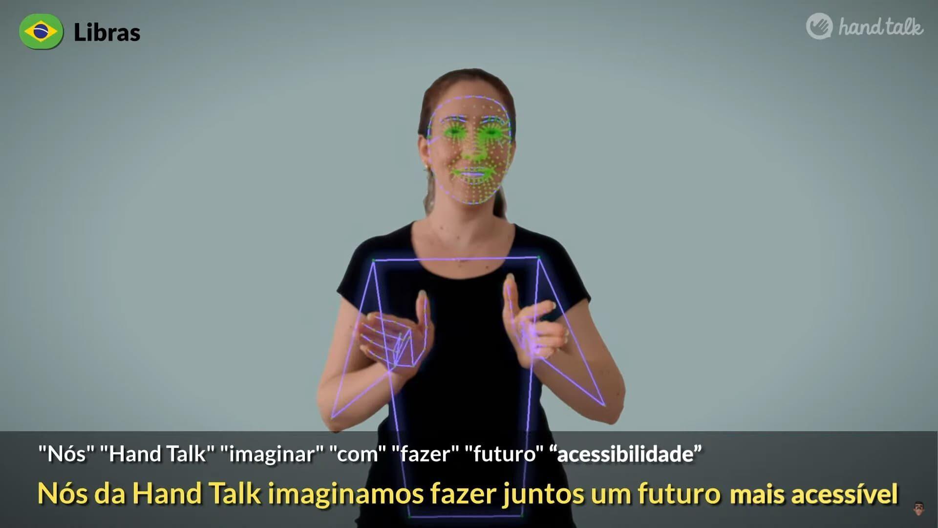 """Imagem de capa da matéria """"Hand Talk anuncia tecnologia inovadora no mercado de acessibilidade digital"""". Descrição detalhada na legenda."""