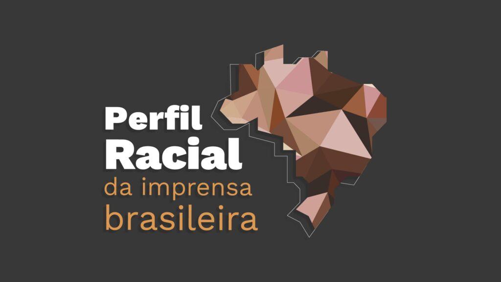 Logo do estudo Perfil Racial da imprensa brasileira, com descrição na legenda, abaixo.