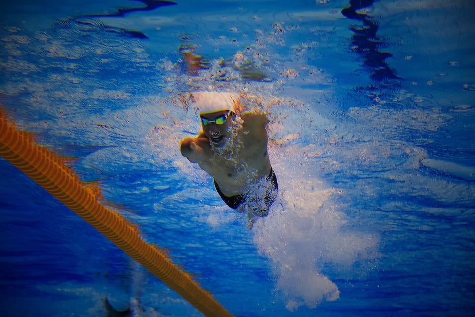 Fotografia do nadador Daniel Dias, na segunda semana dos Jogos Paralímpicos Londres 2012, no Reino Unido.